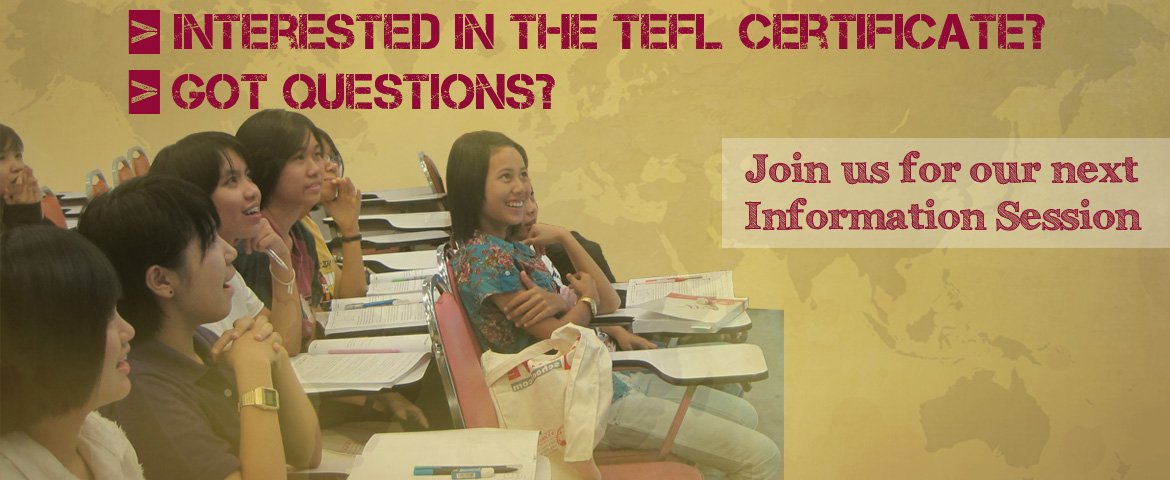 TEFL Info Session banner